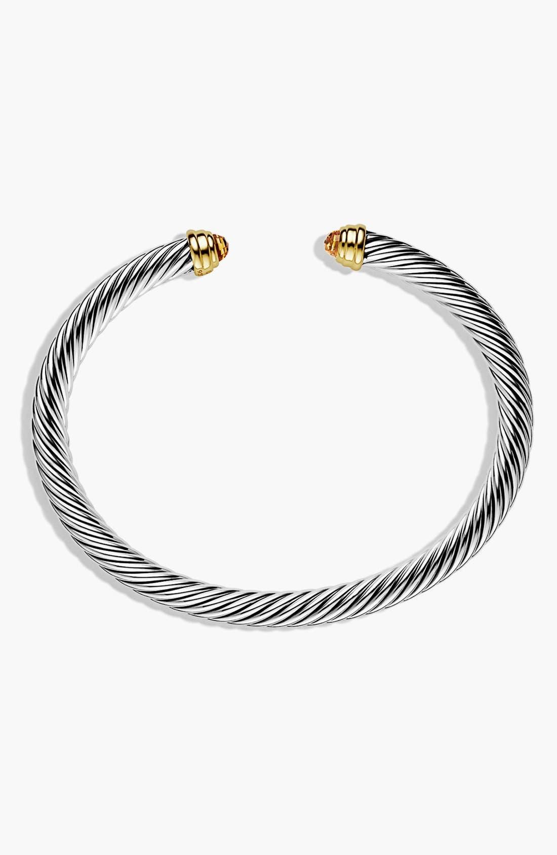 Alternate Image 2  - David Yurman 'Cable Classics' Bracelet with Semiprecious Stones & Gold