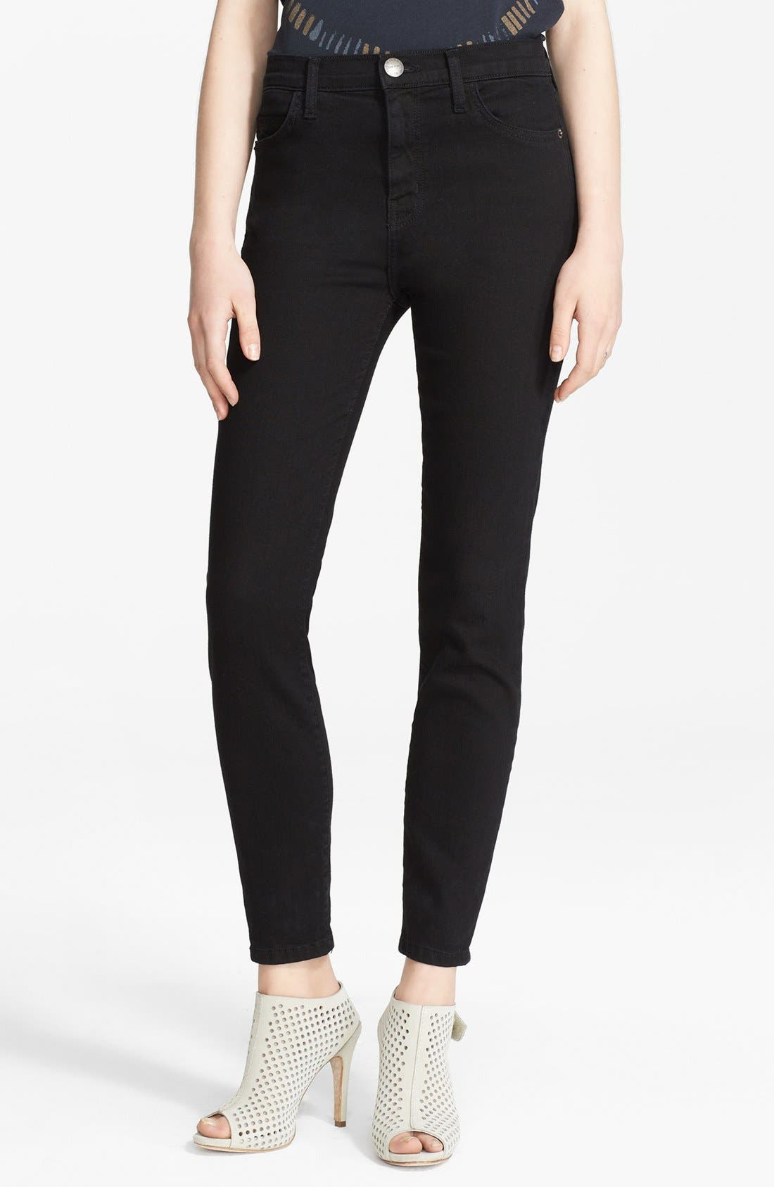 The Stiletto Skinny Jeans,                             Main thumbnail 1, color,                             Jet Black