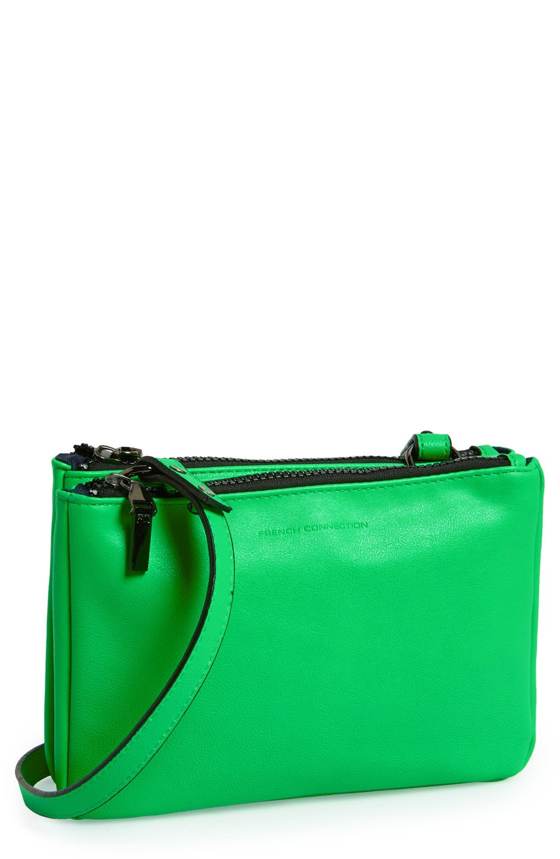 Alternate Image 1 Selected - French Connection 'Mini Gypsy' Faux Leather Crossbody Bag