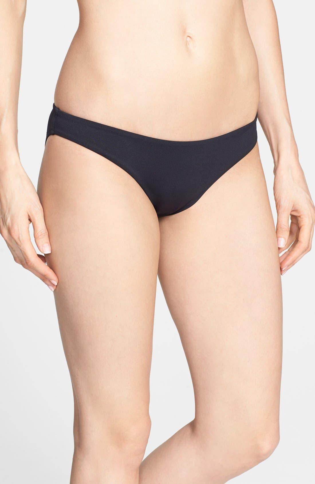 Mini Hipster Bikini Bottoms,                             Main thumbnail 1, color,                             Black