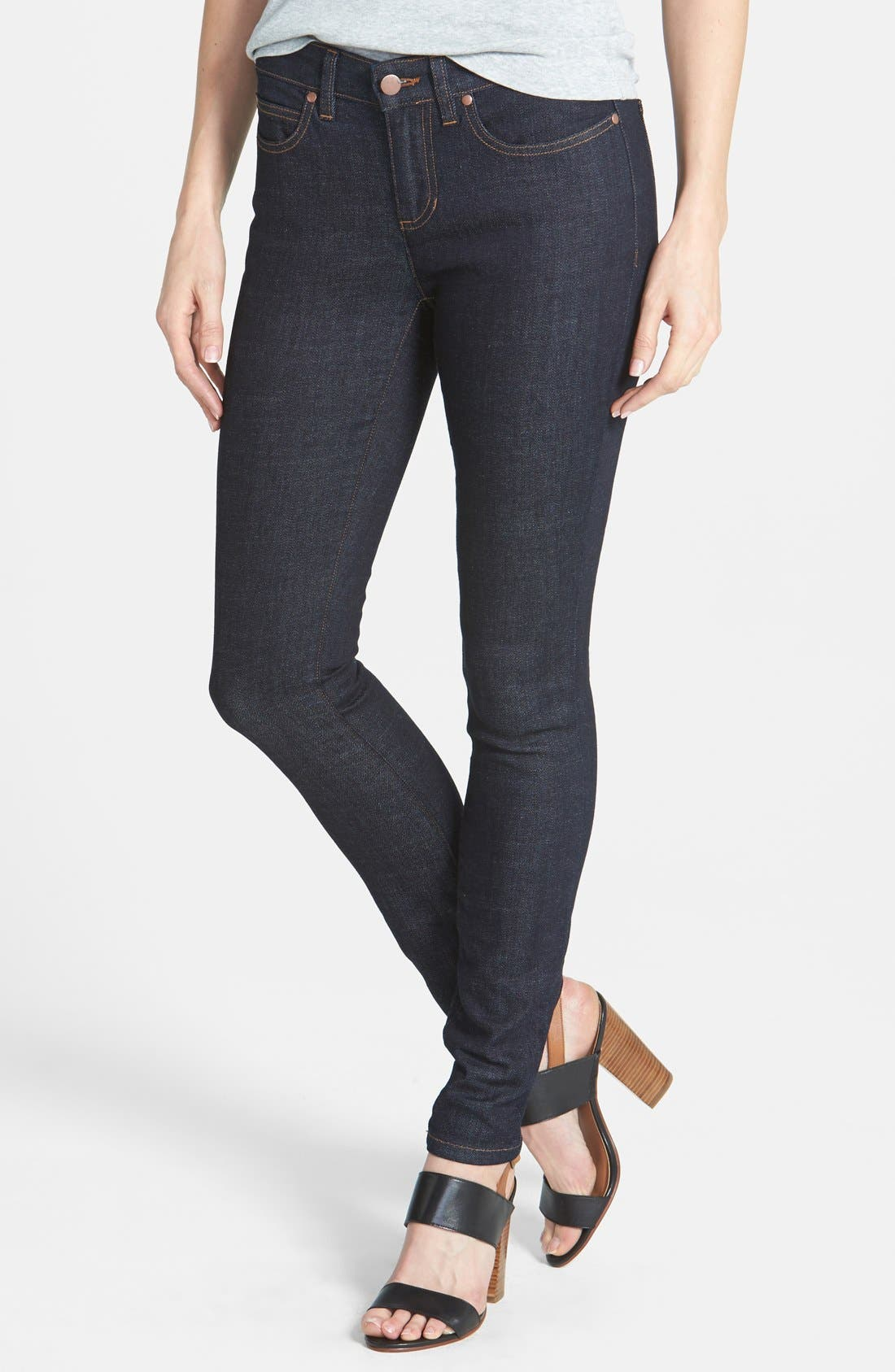 Alternate Image 1 Selected - Eileen Fisher The Fisher Project Organic Cotton Denim Skinny Jeans