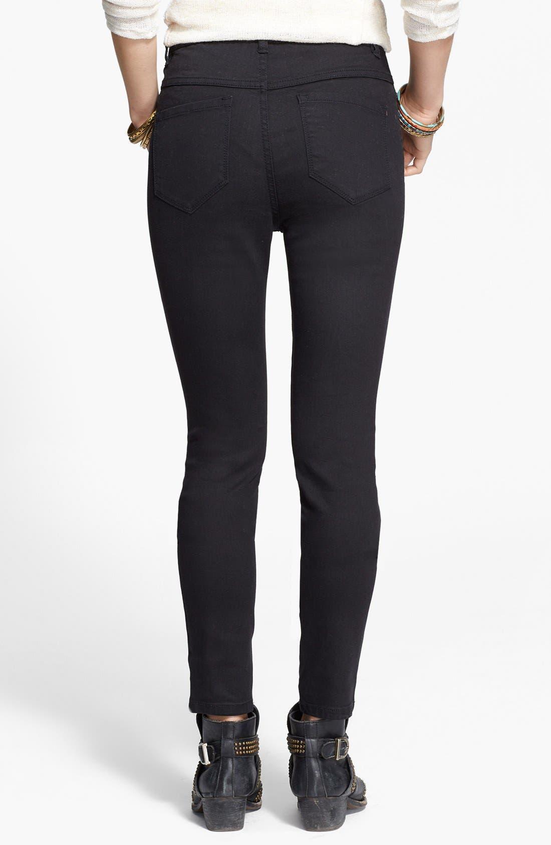 Alternate Image 2  - Free People High Rise Skinny Jeans (Union)