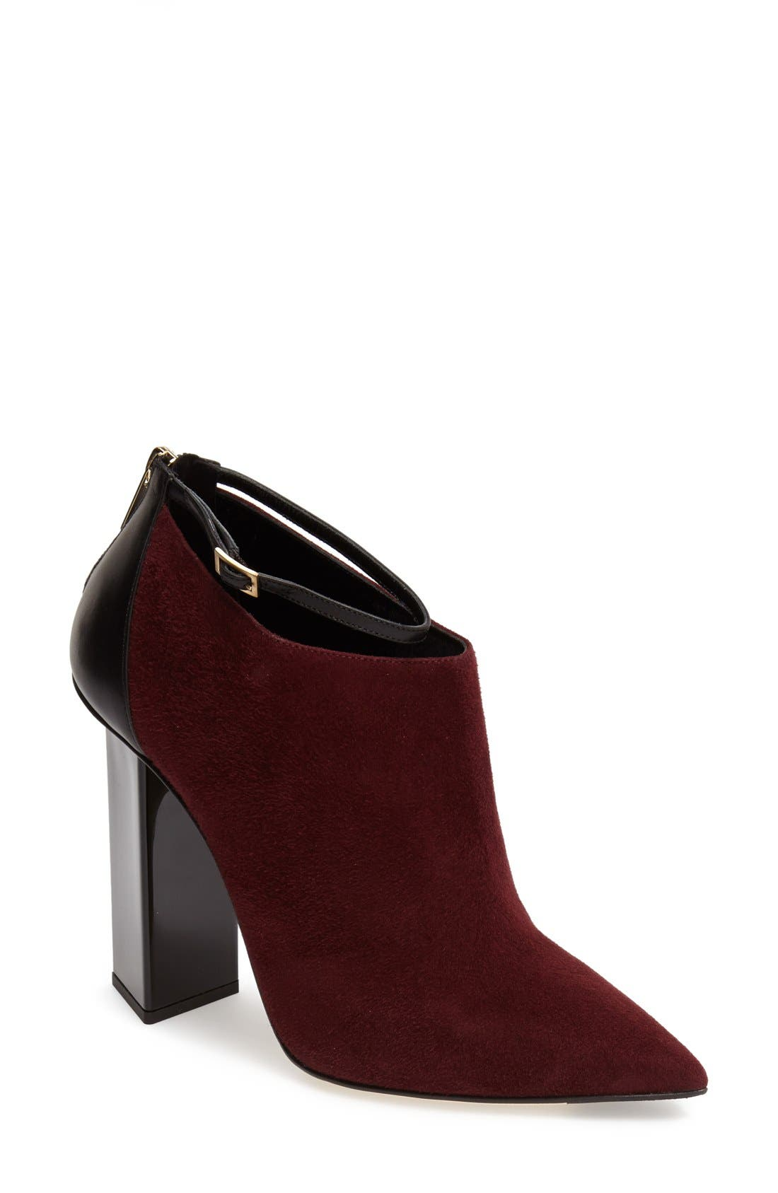 'Vanish' Leather Bootie,                             Main thumbnail 1, color,                             Mirto
