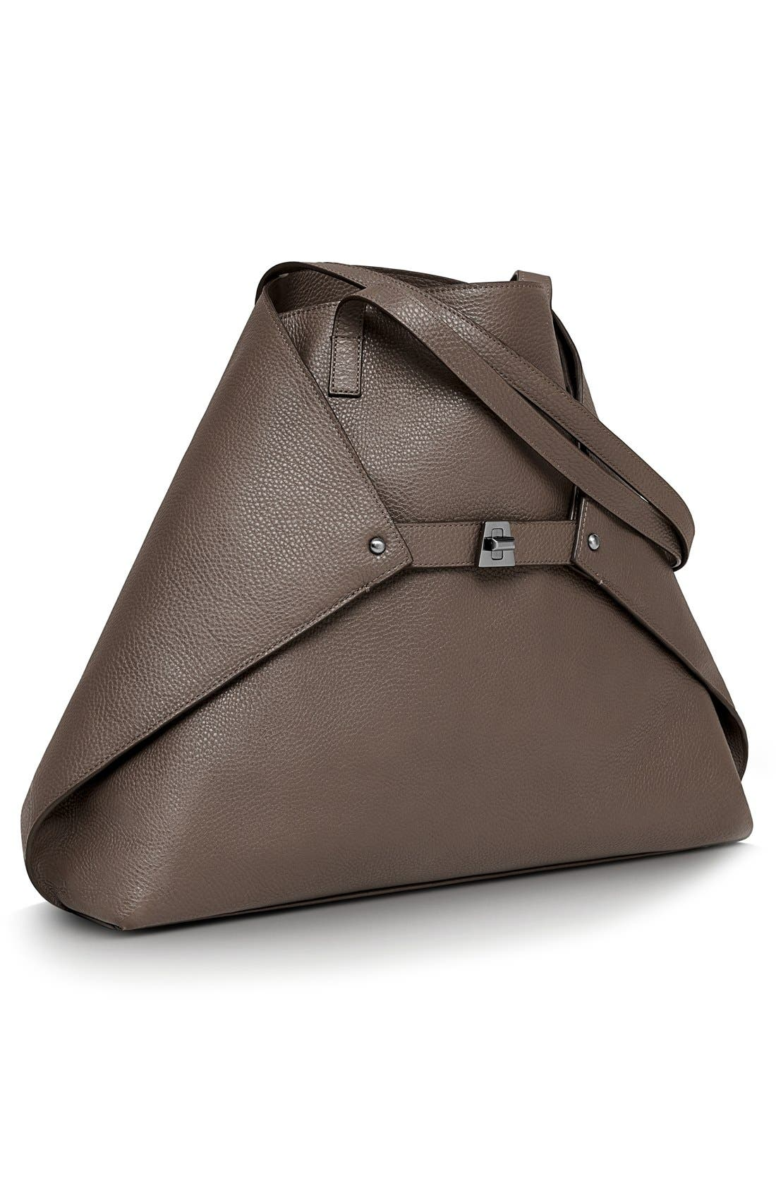 Main Image - Akris 'AI Medium Messenger' Leather Tote