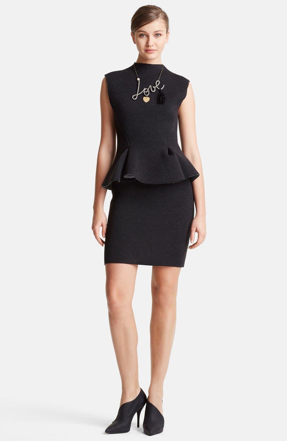 Main Image - Lanvin Peplum Waist Neoprene Dress