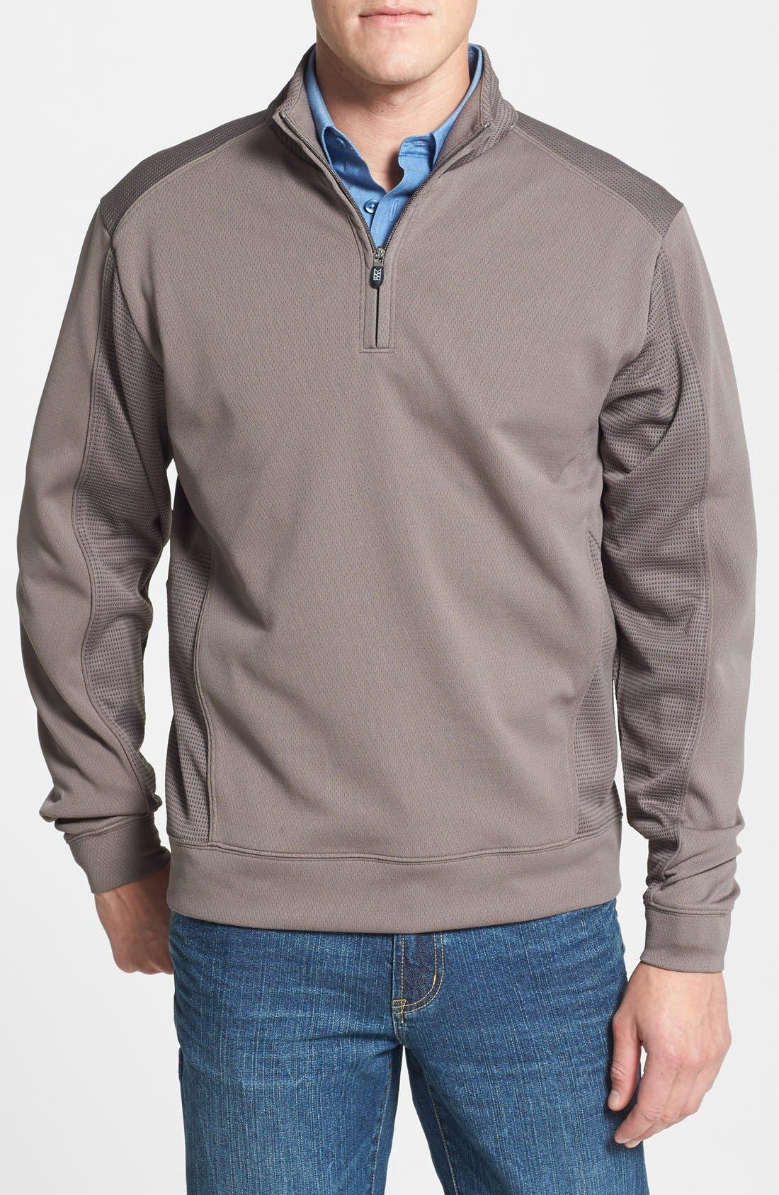 Main Image - Cutter & Buck 'DryTec® Edge' Half Zip Mesh Pullover