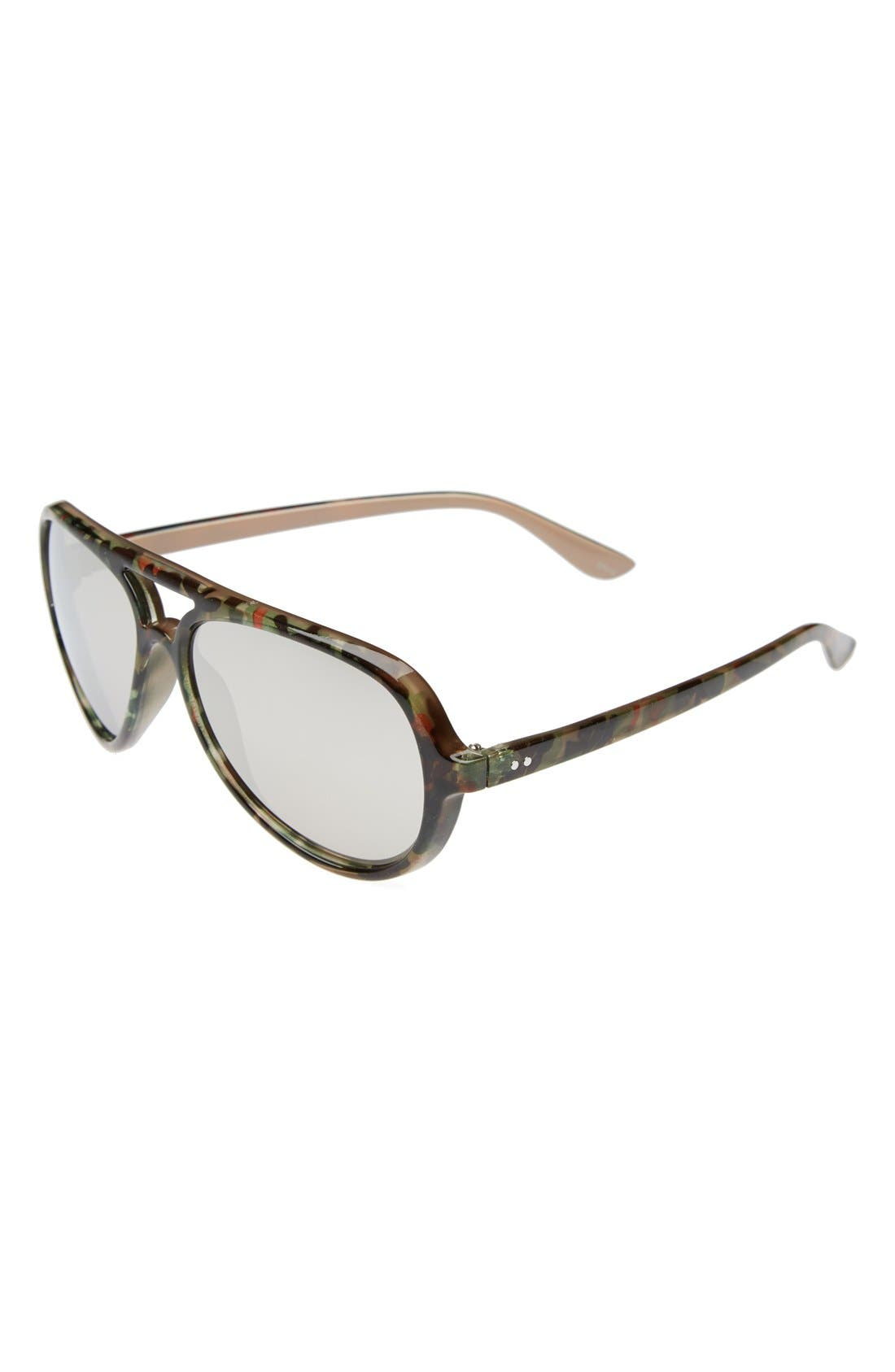 Alternate Image 1 Selected - Icon Eyewear 'Matt' Camo Print Aviator Sunglasses (Big Boys)