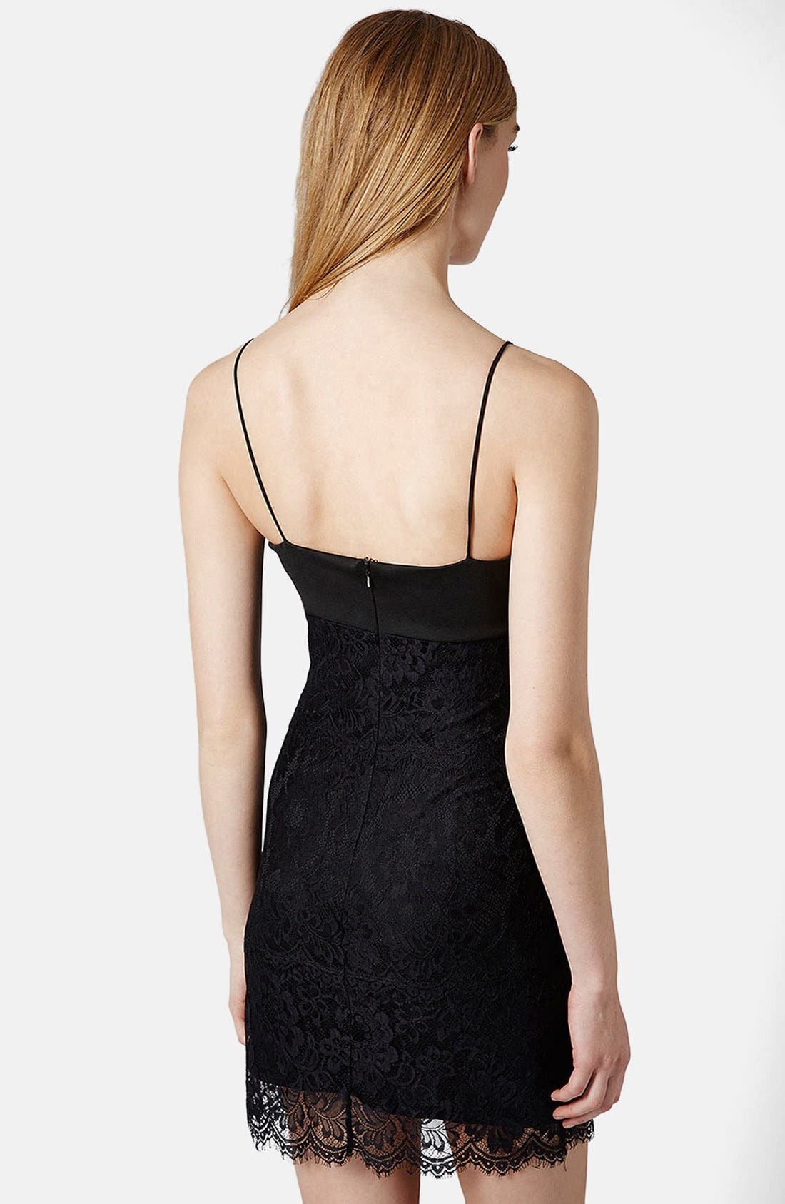 Alternate Image 2  - Topshop Lace Body-Con Slipdress (Regular & Petite)
