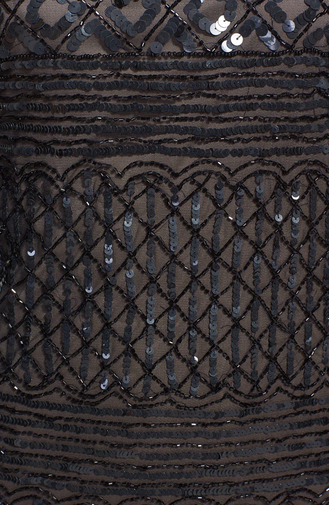 Alternate Image 4  - Pisarro Nights Beaded Short Sleeve Dress (Regular & Petite)