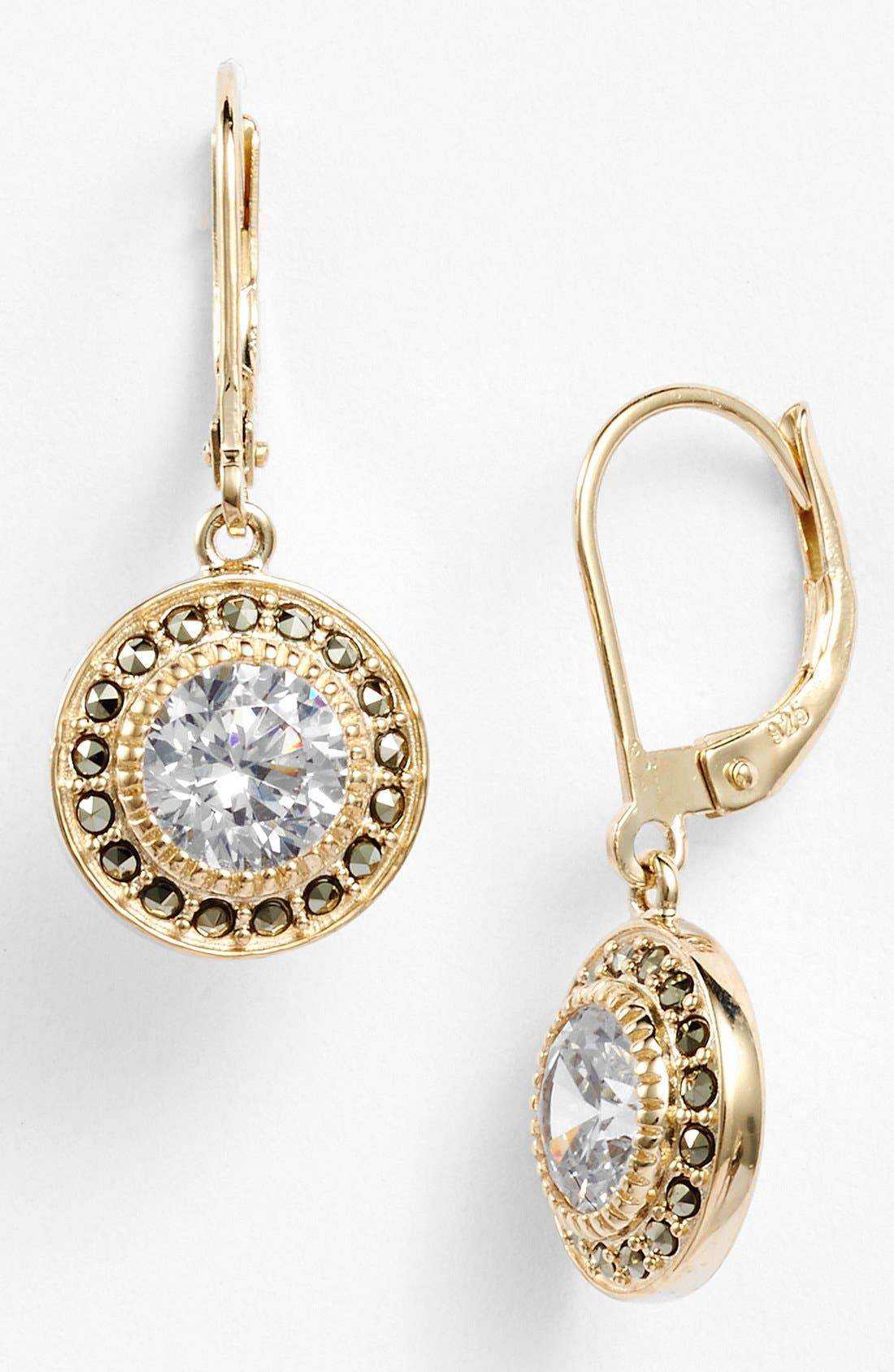 Alternate Image 1 Selected - Judith Jack Marcasite & Cubic Zirconia Drop Earrings