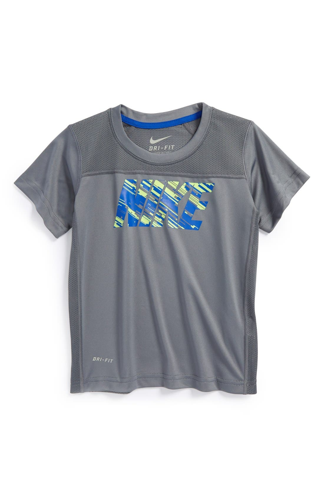 Alternate Image 1 Selected - Nike 'Hyper Speed GFX' Mesh Panel Short Sleeve T-Shirt (Toddler Boys)