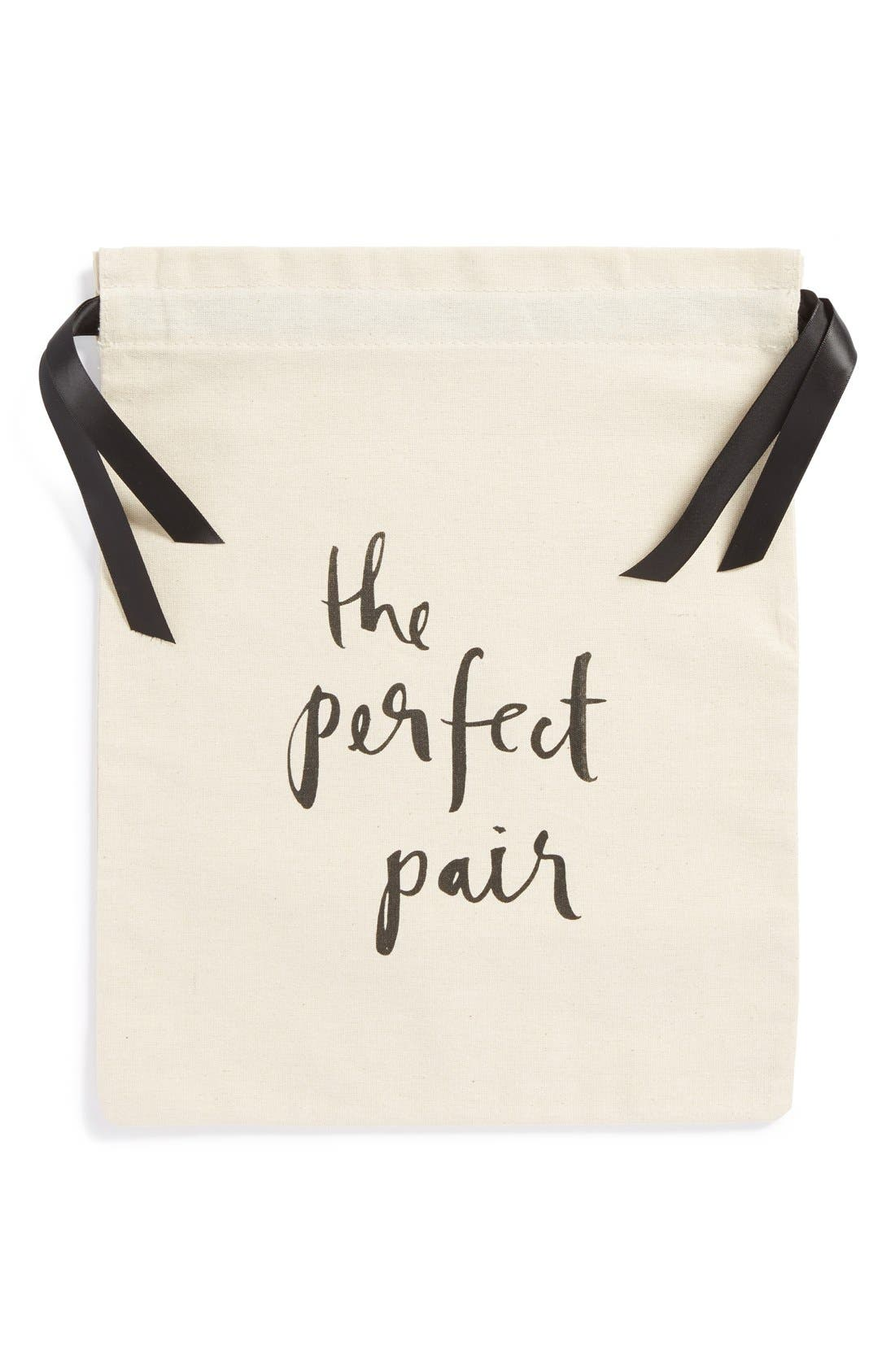 'the perfect pair' shoe bag,                             Main thumbnail 1, color,                             White