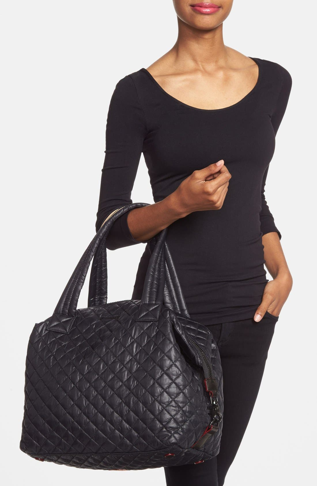 Alternate Image 2  - MZ Wallace 'Large Sutton' Quilted Oxford Nylon Shoulder Tote