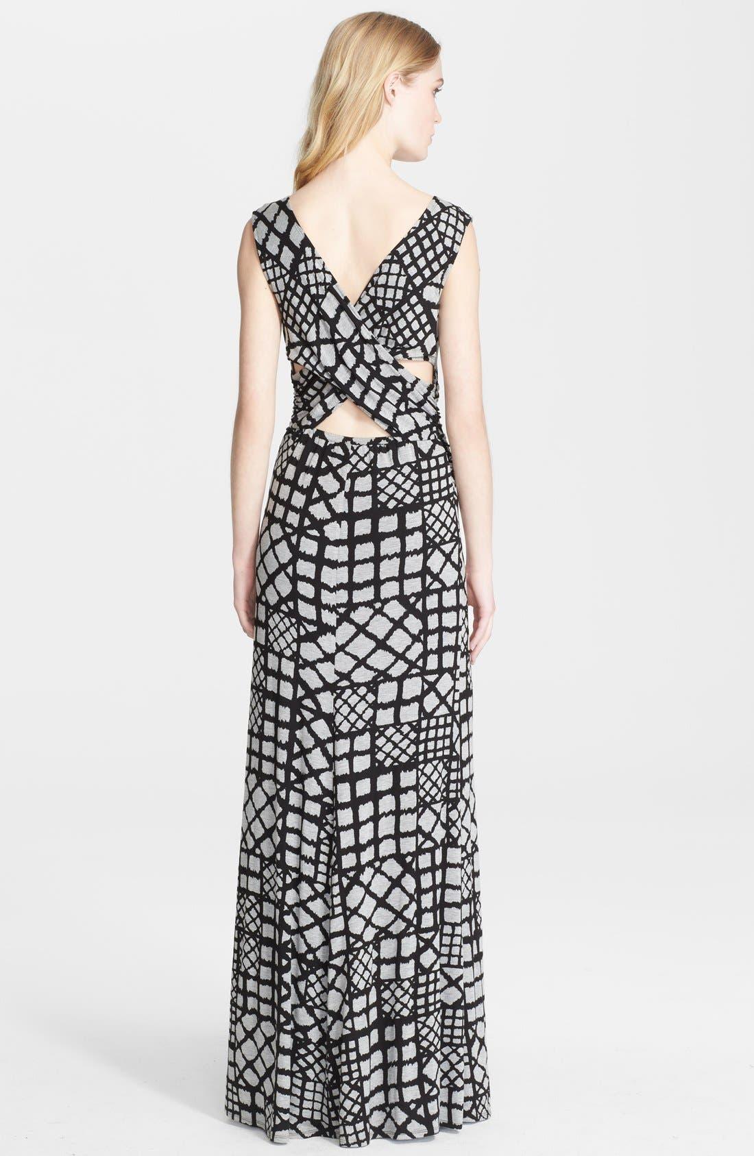 Alternate Image 2  - Tracy Reese Cross Back Geometric Print Jersey Maxi Dress