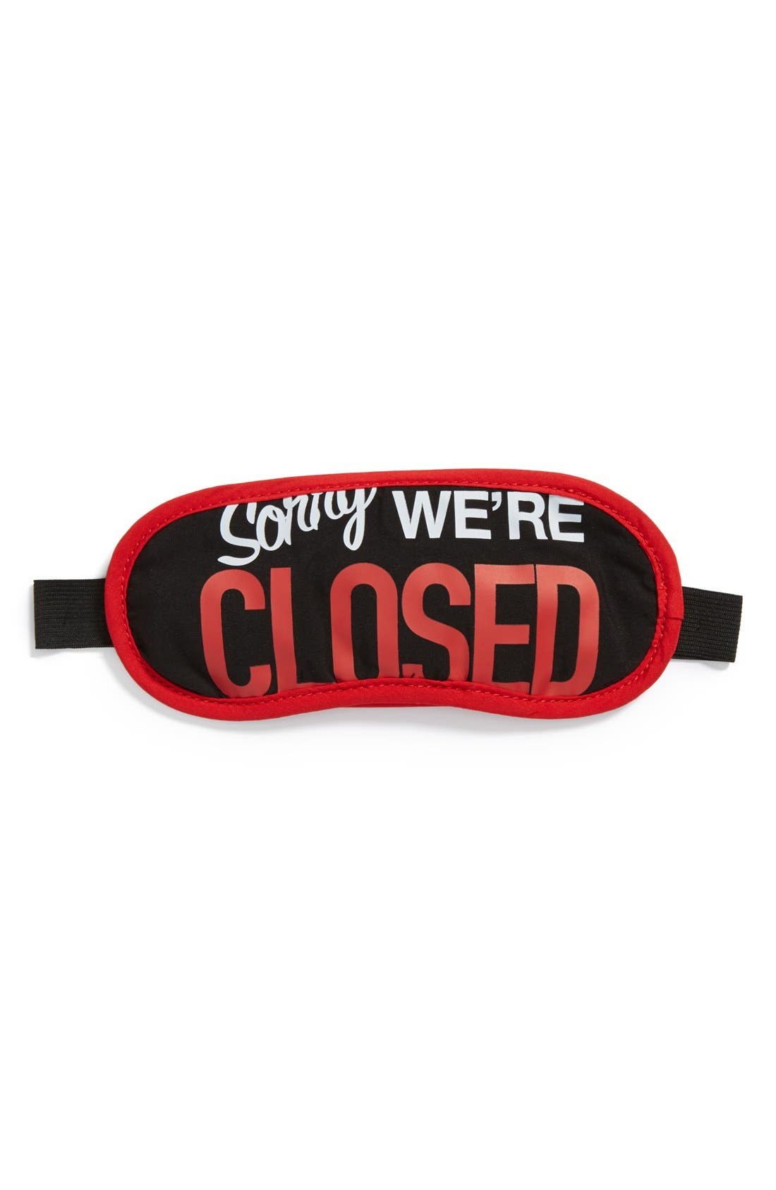 'Sorry, We're Closed' Sleep Mask,                             Main thumbnail 1, color,                             Black