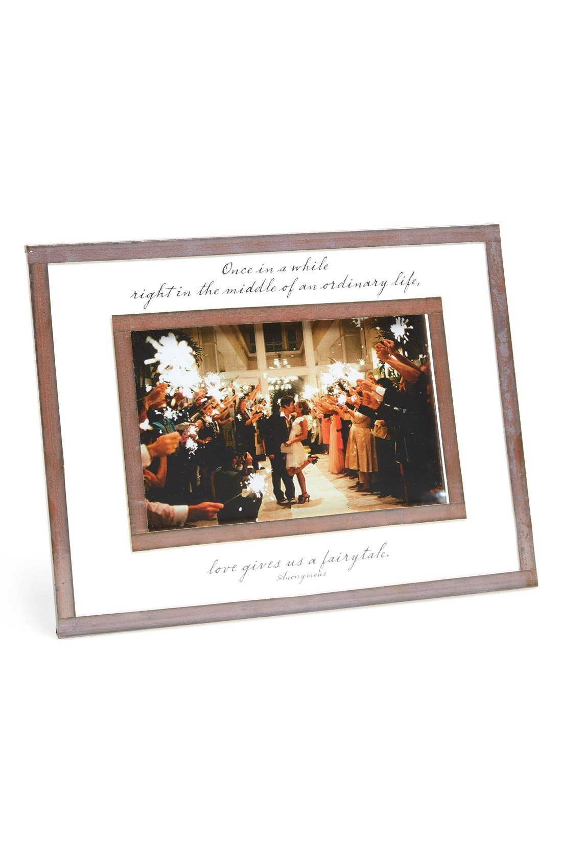 Once in a While Antiqued Copper Picture Frame,                         Main,                         color, White