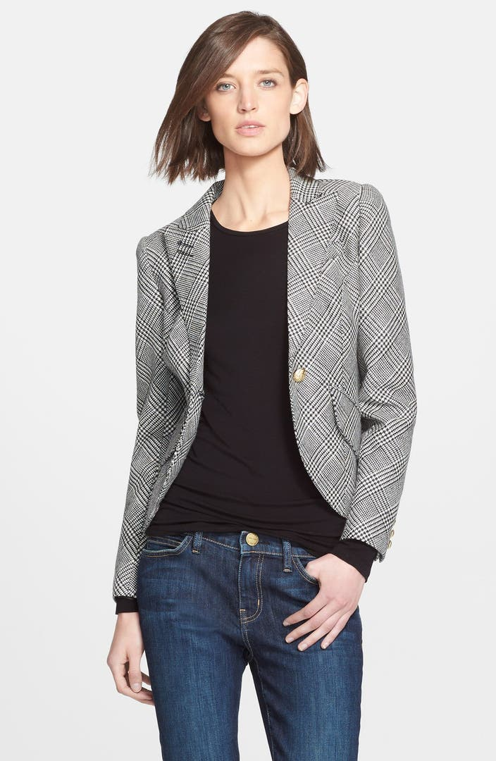 Smythe leather elbow patch houndstooth jacket nordstrom for Smythe designer
