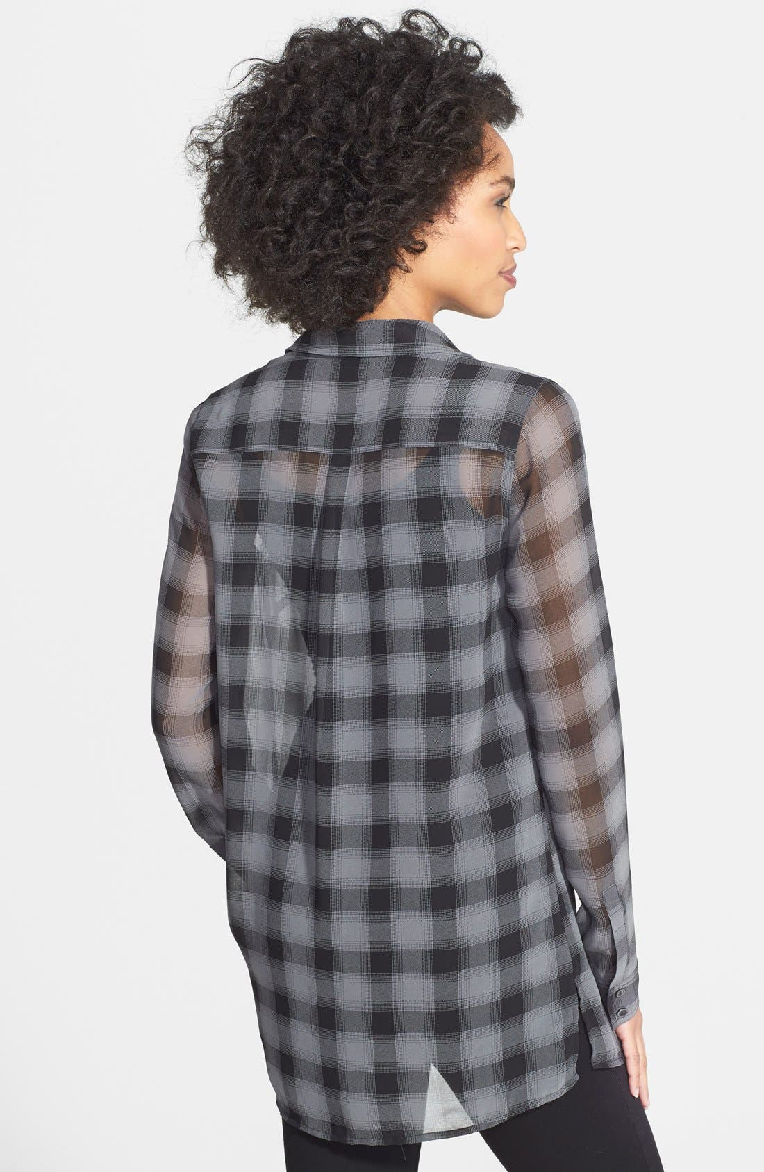 Alternate Image 2  - Halogen® Plaid Tunic Shirt (Regular & Petite)