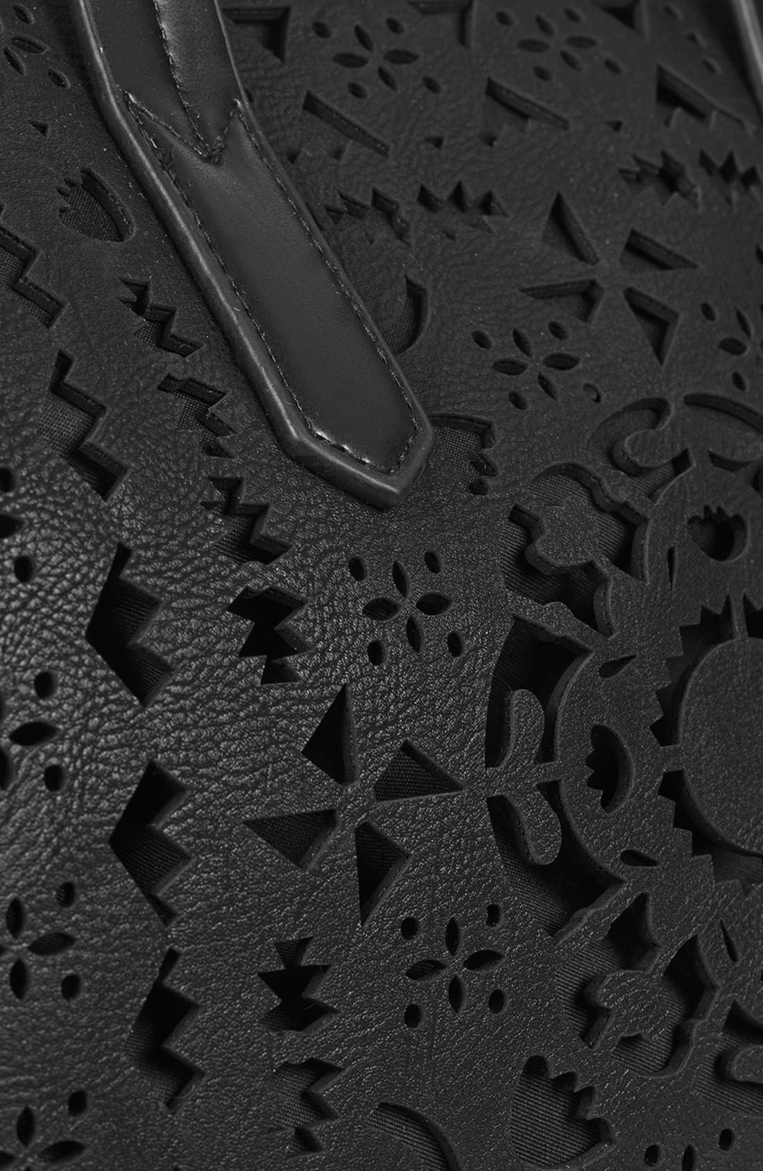 Alternate Image 3  - Topshop Lasercut Faux Leather Tote