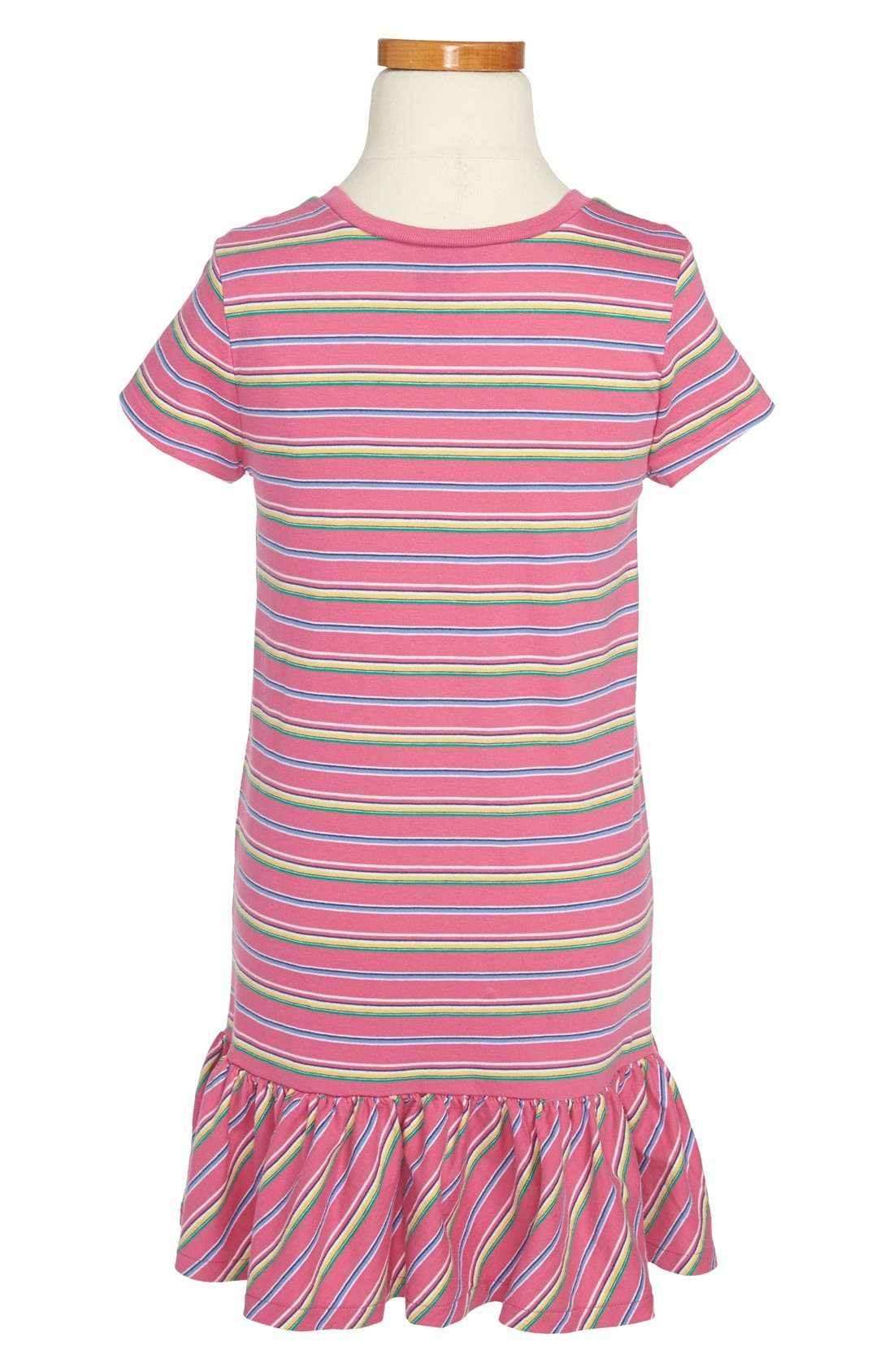 Alternate Image 2  - Ralph Lauren Stripe T-Shirt Dress (Little Girls)