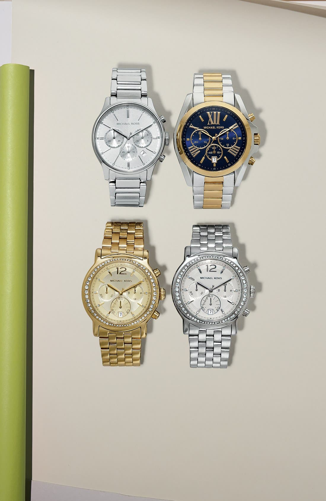 Alternate Image 4  - Michael Kors 'Baisley' Crystal Bezel Chronograph Bracelet Watch, 41mm (Nordstrom Exclusive)