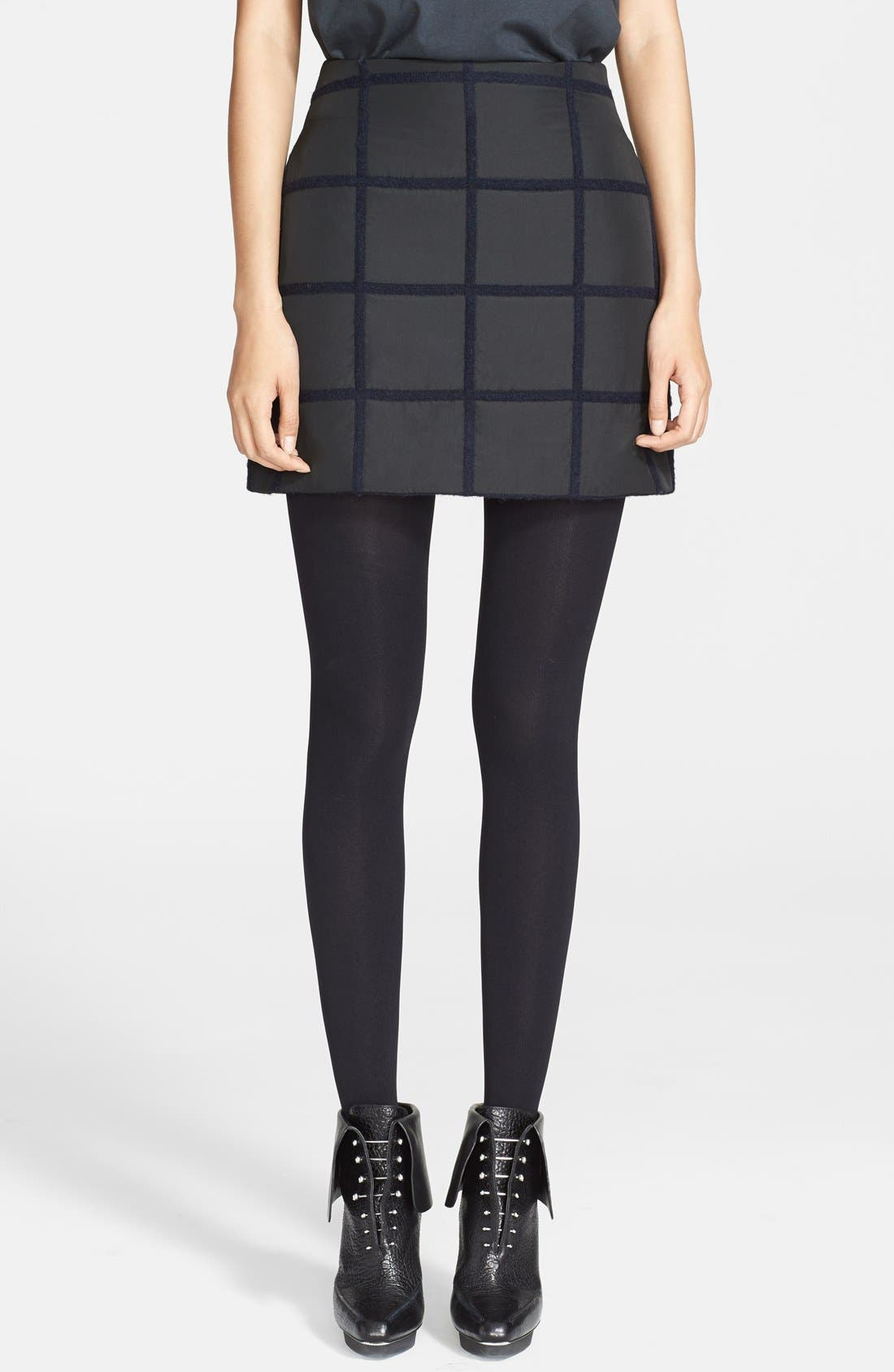 Alternate Image 1 Selected - 3.1 Phillip Lim Grid Miniskirt