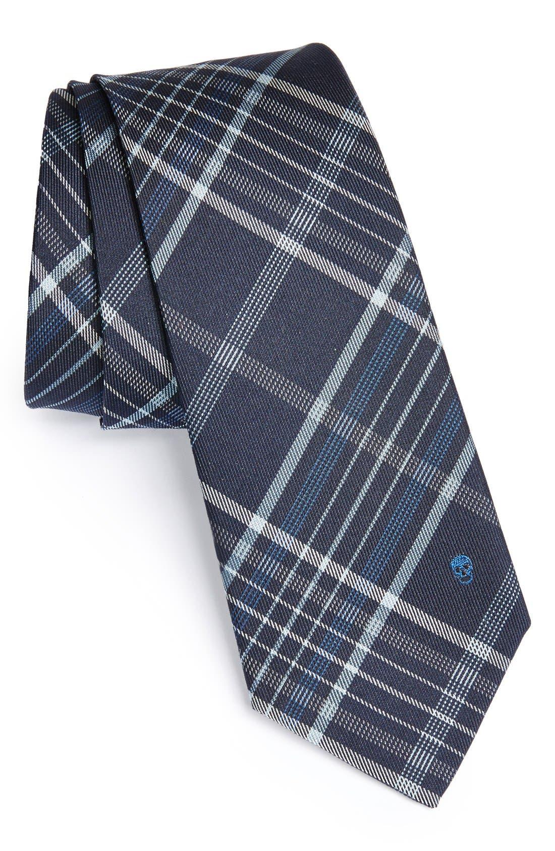 Alternate Image 1 Selected - Alexander McQueen Woven Silk & Cotton Tie