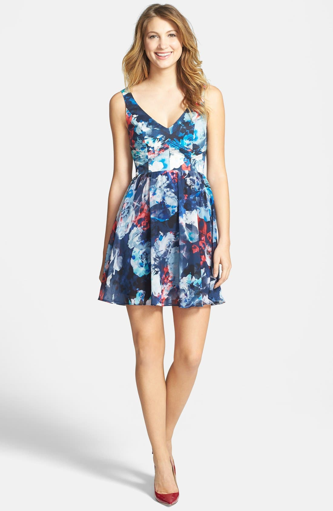 Alternate Image 4  - Bardot Floral Print Fit & Flare Dress (Nordstrom Exclusive)