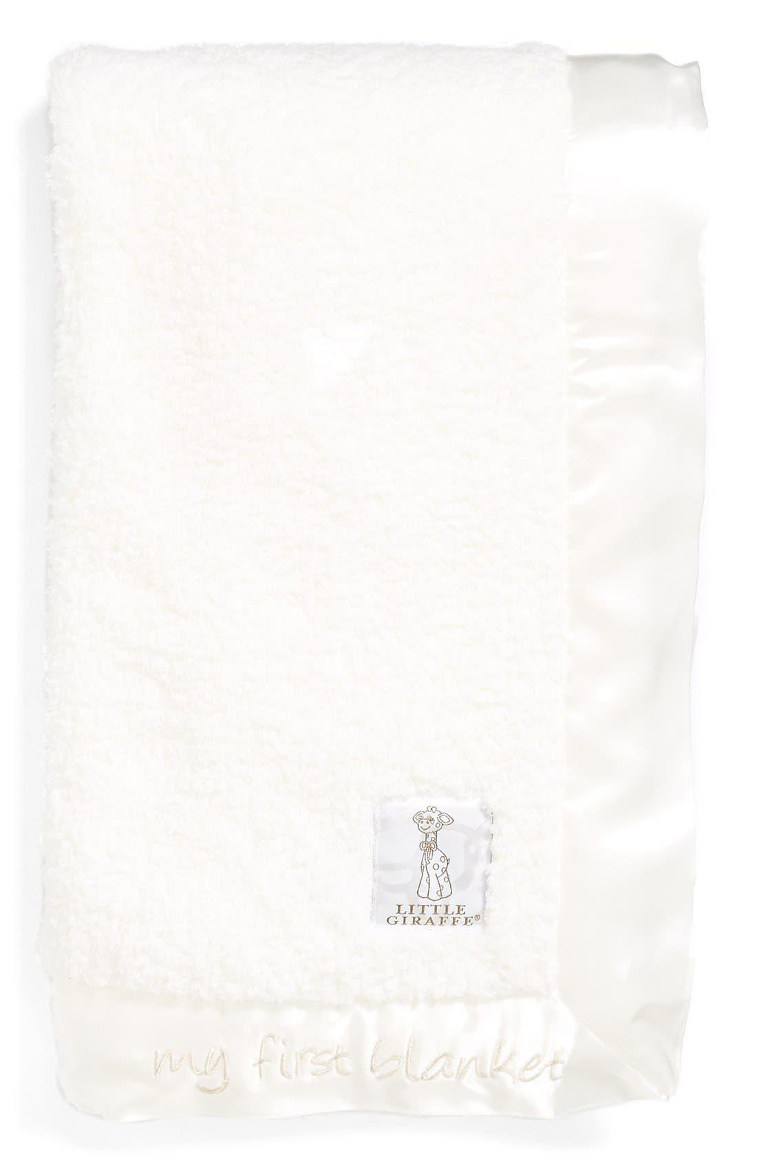 main image little giraffe my first blanket chenille blanket online only - Chenille Blanket
