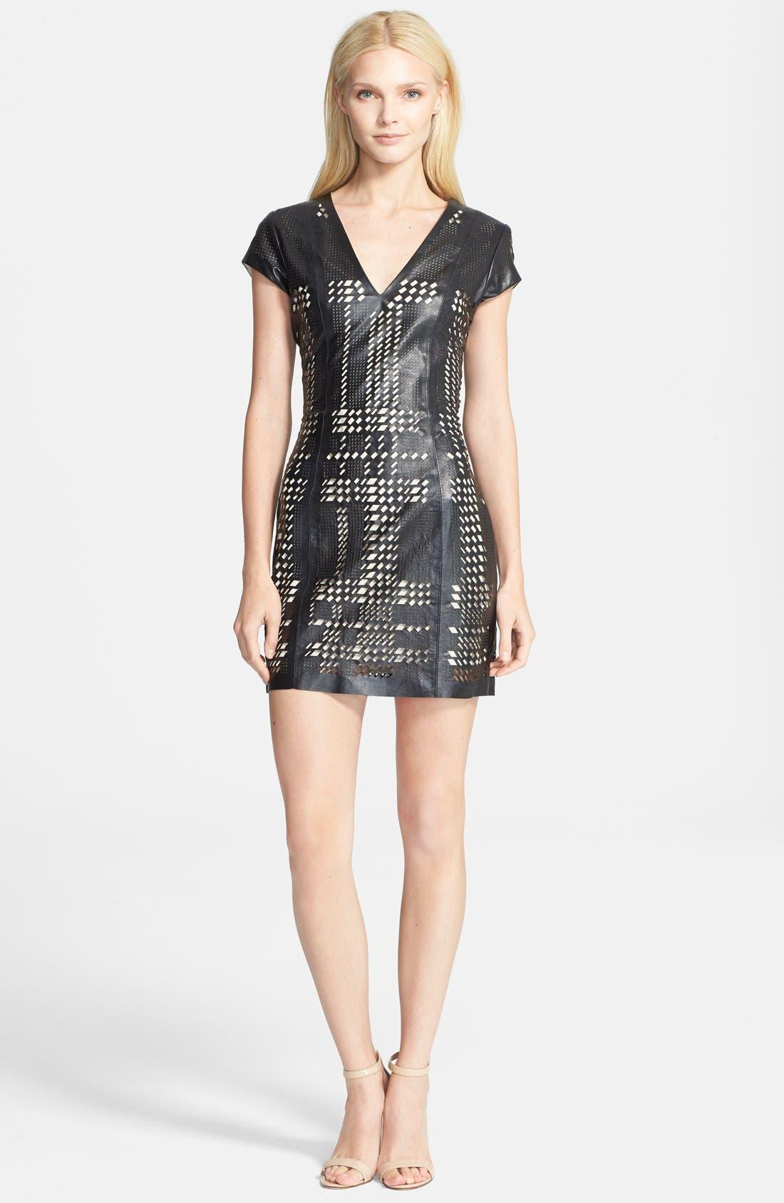 'Serena' Dress,                             Main thumbnail 1, color,                             Black