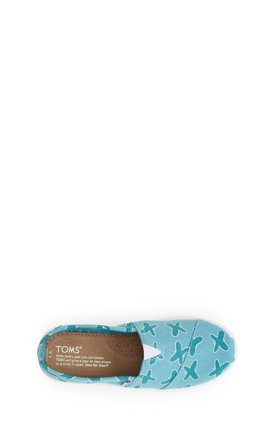 Alternate Image 3  - TOMS 'Classic Youth - Butterfly' Slip-On (Toddler, Little Kid & Big Kid)