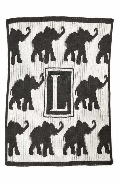 Keepsakes baby shower gifts nordstrom butterscotch blankees walking elephants personalized crib blanket negle Gallery