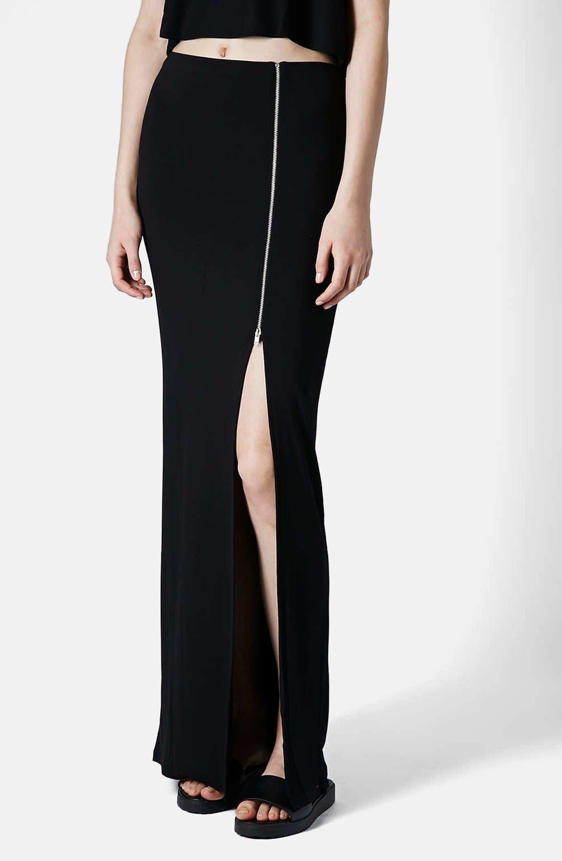 Alternate Image 1 Selected - Topshop Side Zip Maxi Skirt