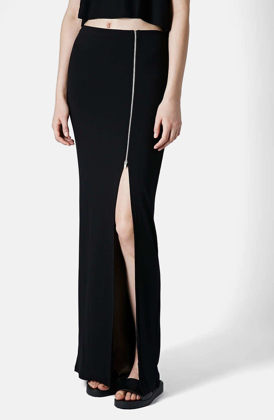 Main Image - Topshop Side Zip Maxi Skirt