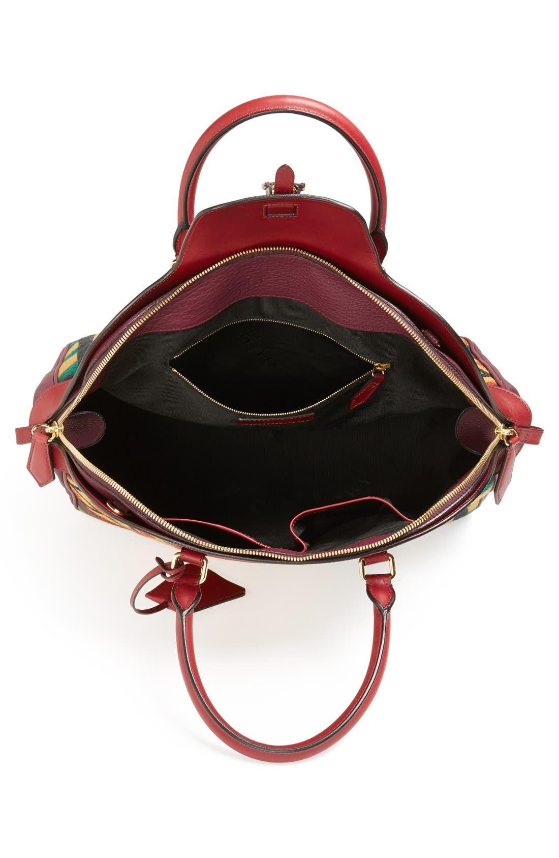 Alternate Image 3  - Burberry 'Large Milverton' Geometric Tapestry Bowling Bag