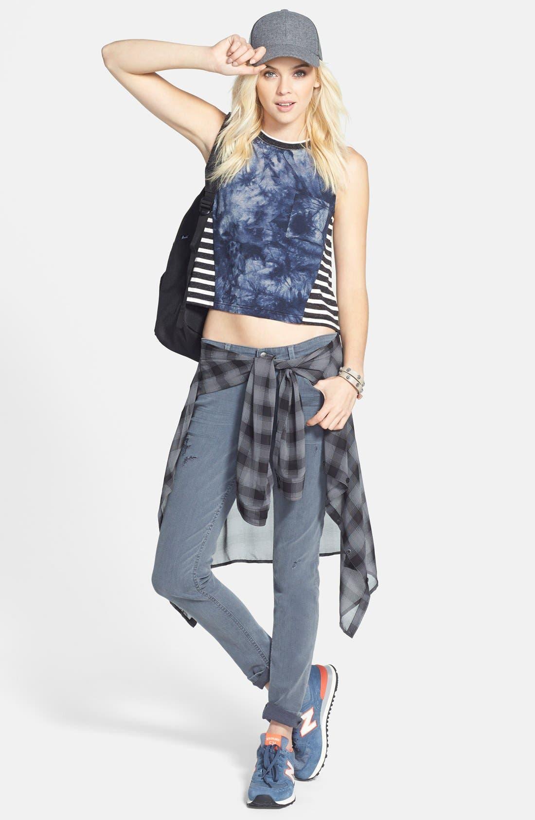 Alternate Image 4  - Halogen® Plaid Tunic Shirt (Regular & Petite)