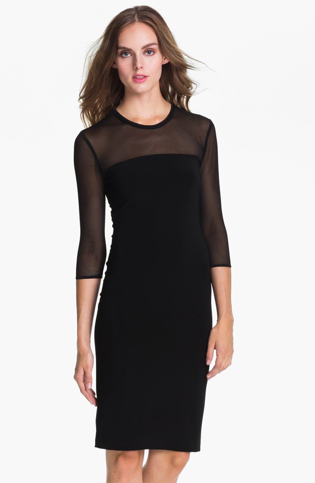 Main Image - KAMALIKULTURE Sheer Yoke Sheath Dress