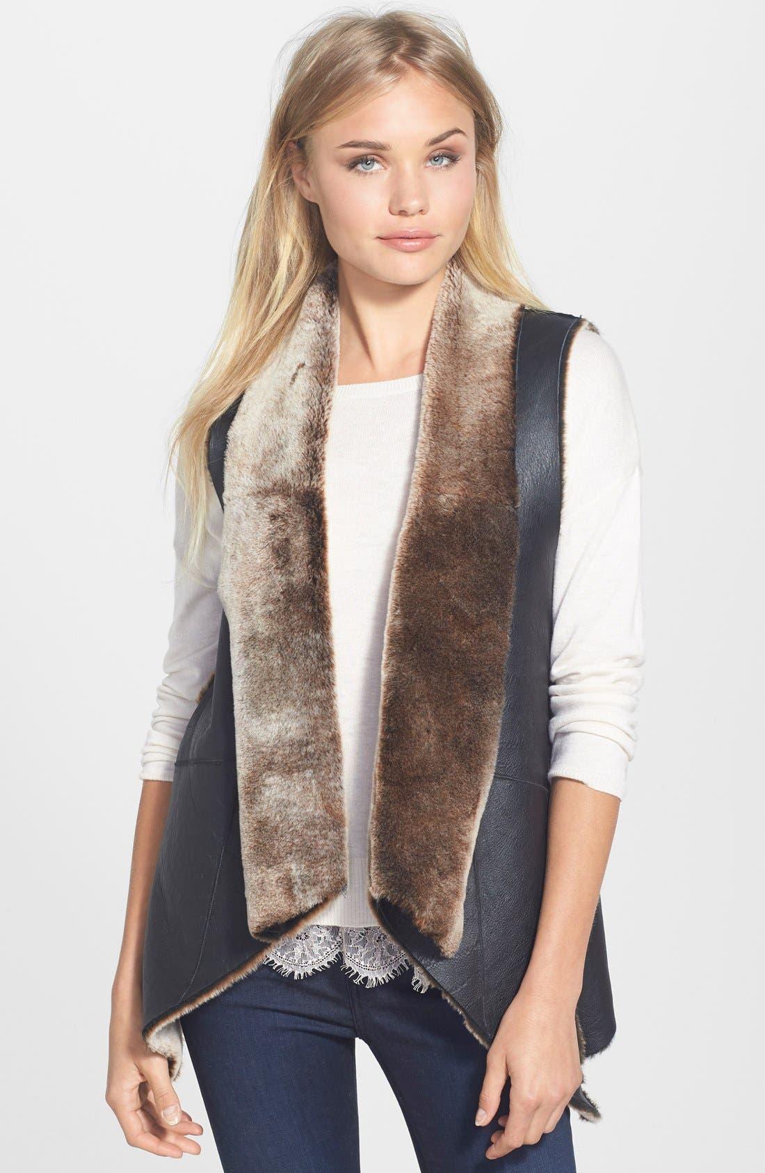 Alternate Image 1 Selected - Truth & Pride Genuine Shearling Vest