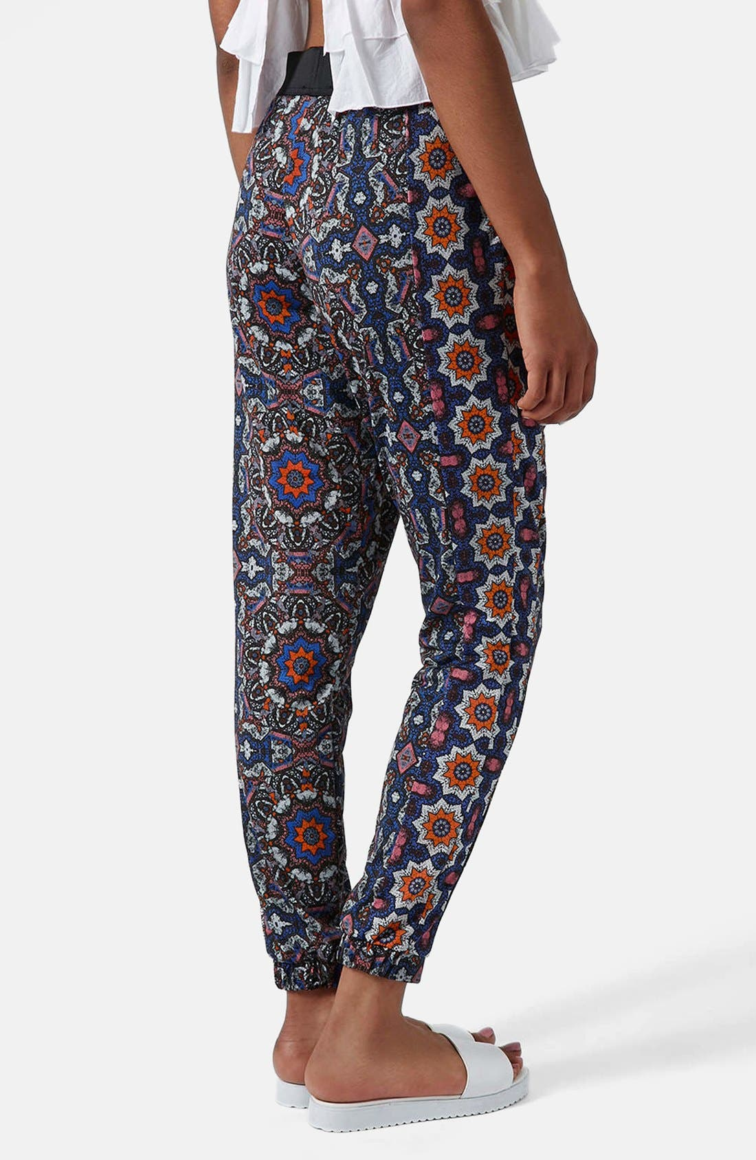 Alternate Image 2  - Topshop Kaleidoscope Print Tapered Pants