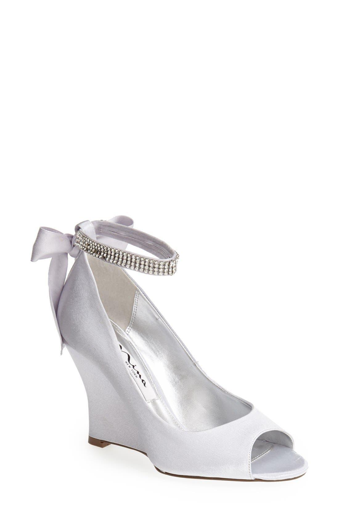 Nina 'Emma' Crystal Embellished Ankle Strap Pump (Online Only)