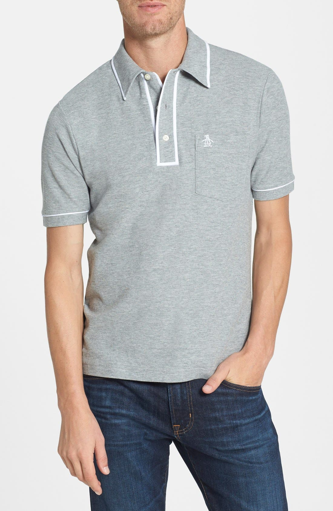 Main Image - Original Penguin 'The Earl' Trim Fit Piqué Polo