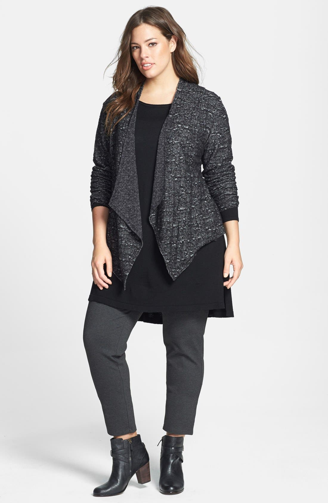 Alternate Image 4  - Eileen Fisher Drape Front Shaped Jacket (Plus Size)