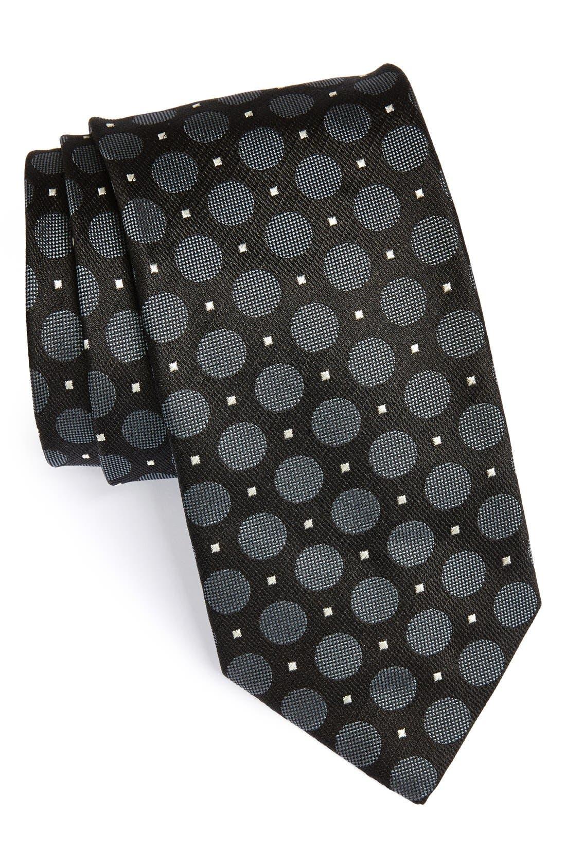 Main Image - Canali Dot Woven Silk Tie