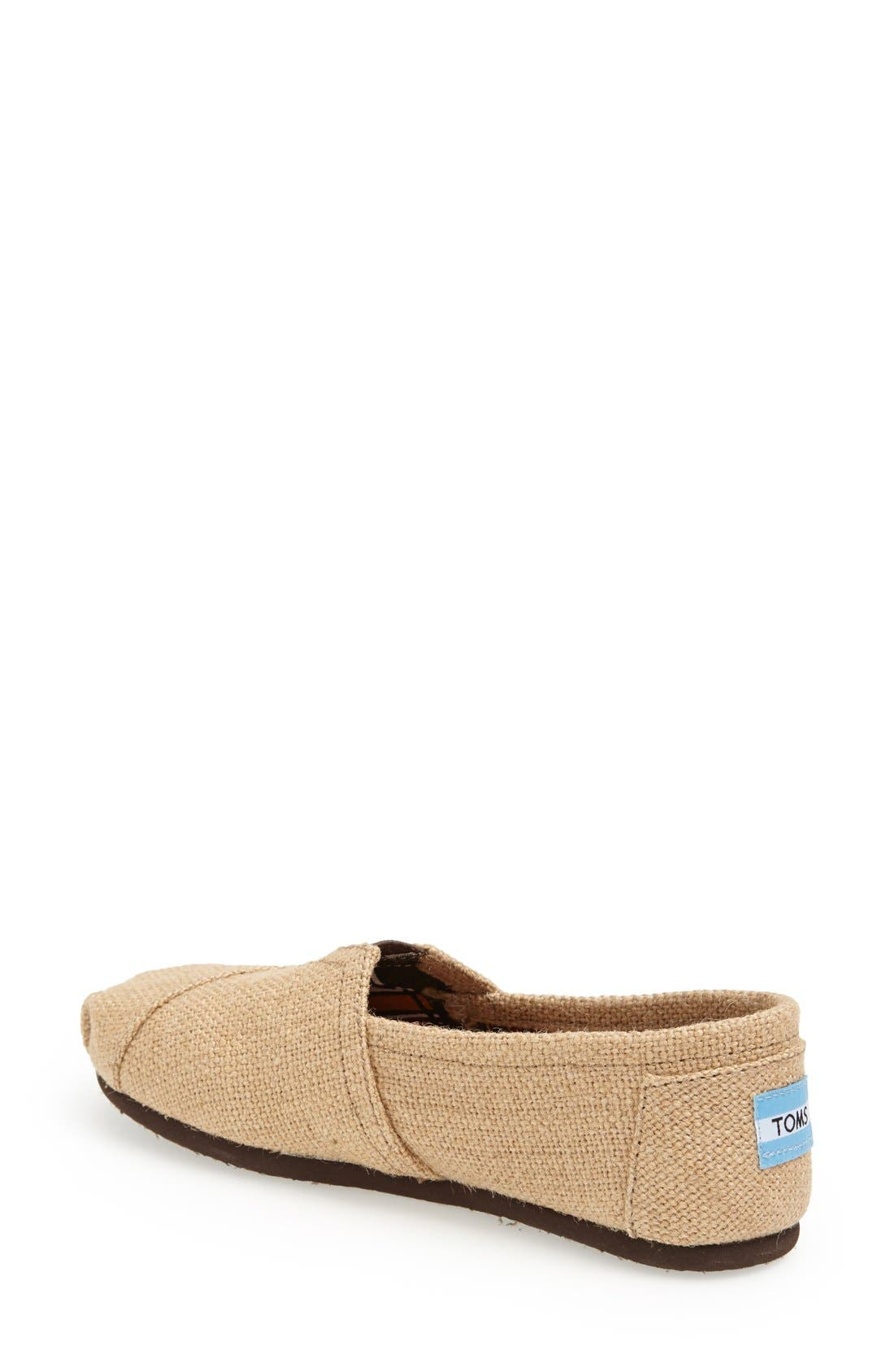 Alternate Image 2  - TOMS Burlap Slip-On (Women)