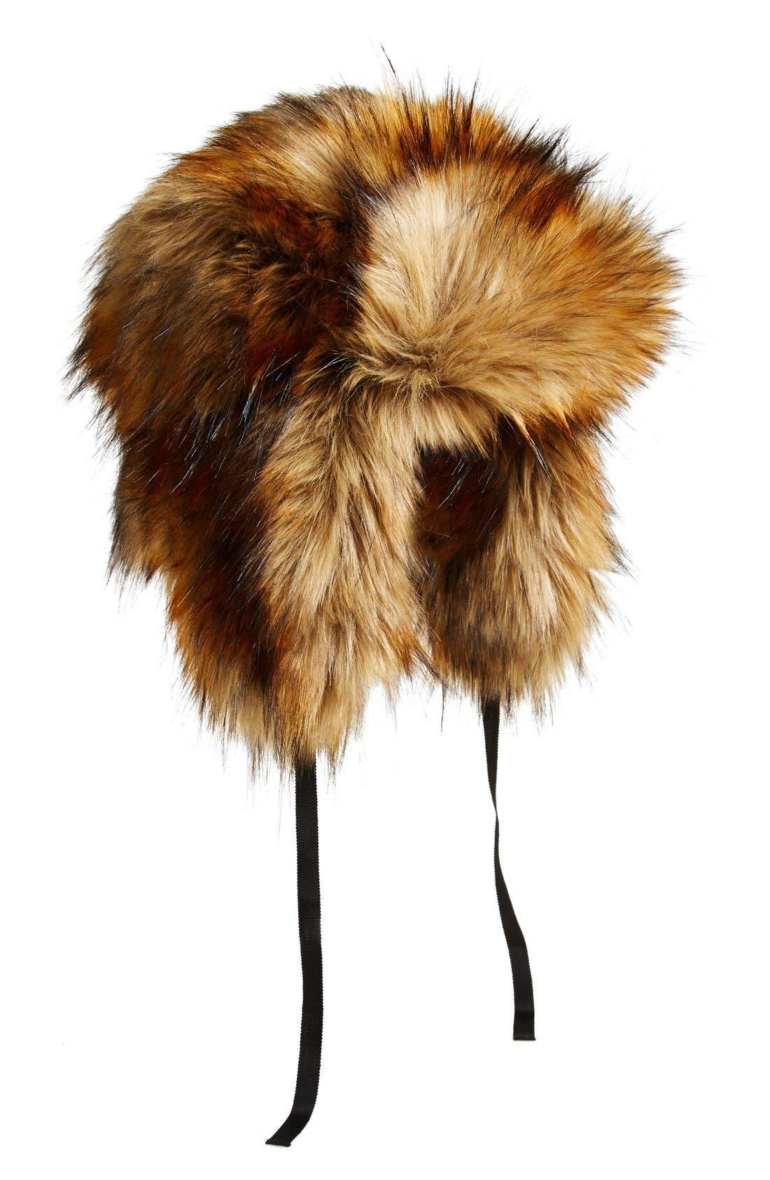 Alternate Image 3  - kate spade new york 'raccoon' faux fur hat