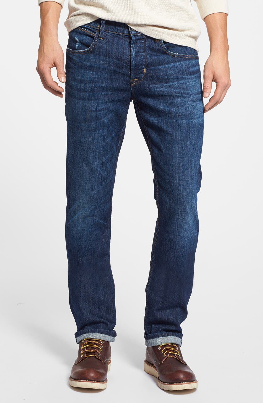 Alternate Image 1 Selected - Hudson Jeans 'Byron' Slim Straight Leg Jeans (Blueprint)