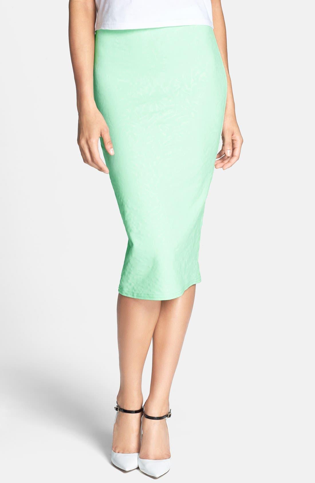 Alternate Image 1 Selected - Glamorous Print Midi Skirt