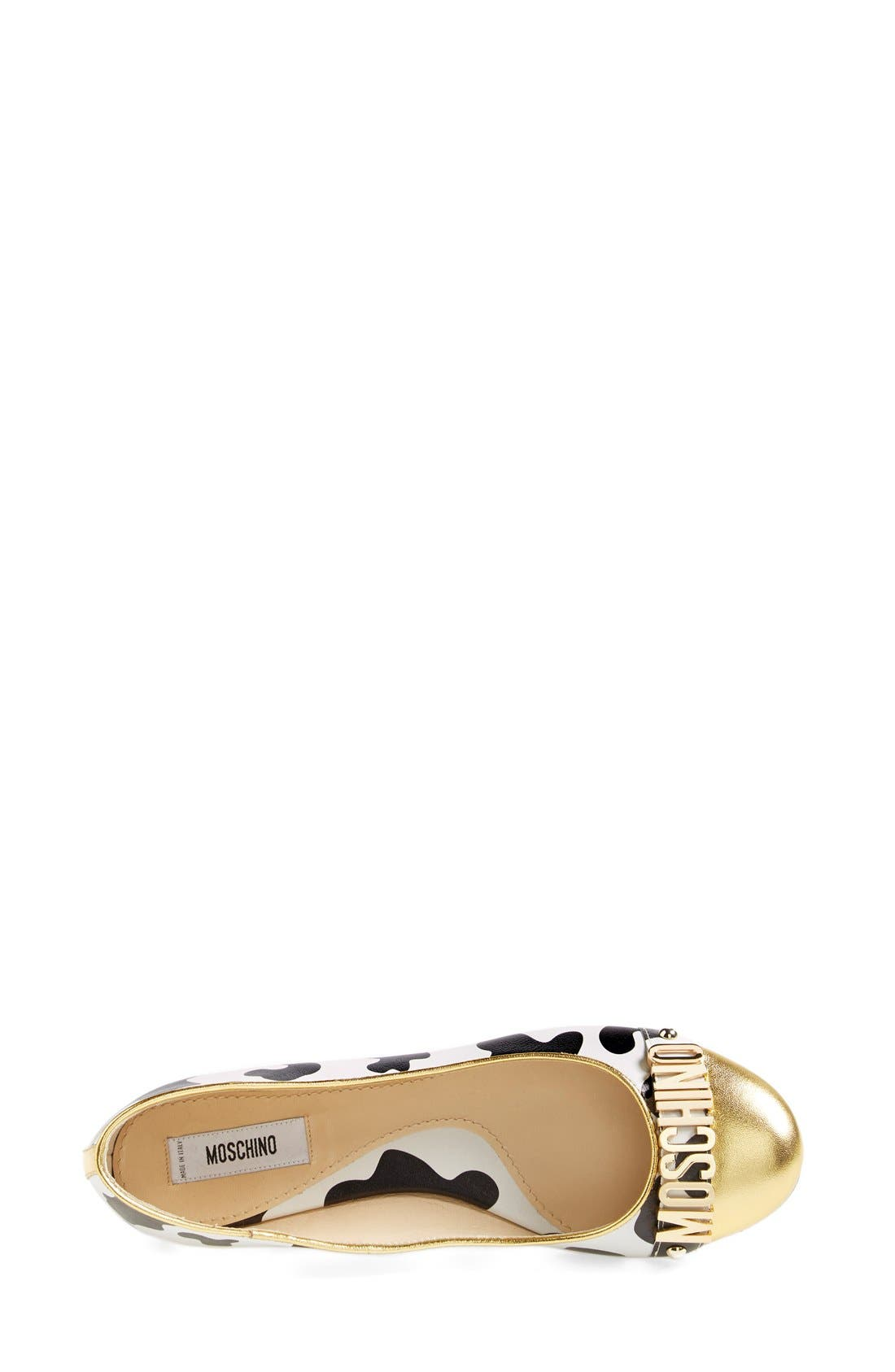 Alternate Image 3  - Moschino Logo Ballet Flat (Women)