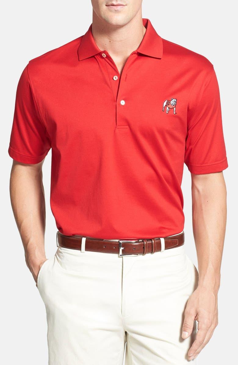 Peter Millar \'Georgia Bulldogs\' Regular Fit Cotton Lisle Polo ...