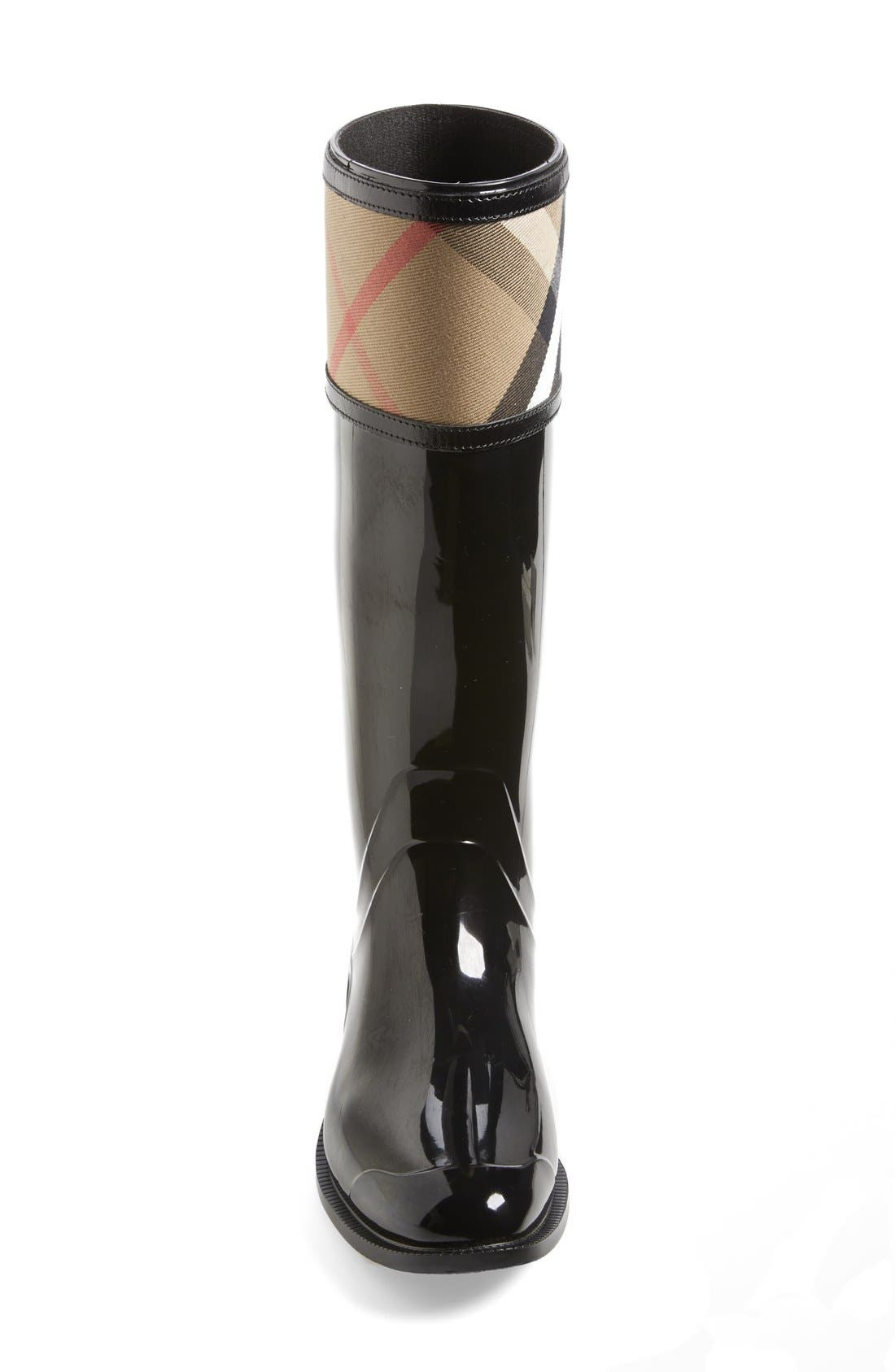 Alternate Image 3  - Burberry Crosshill Rain Boot (Women)